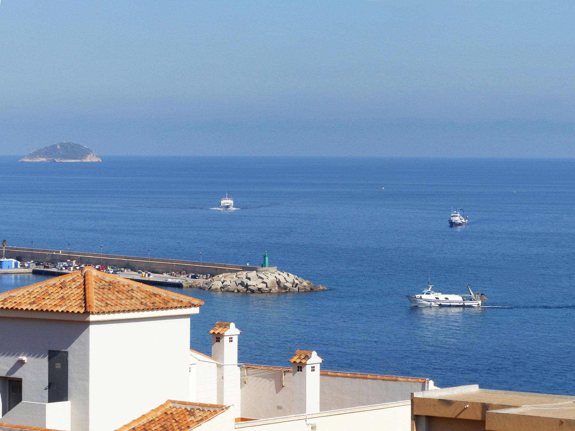 Llegada barcos desde el hotel