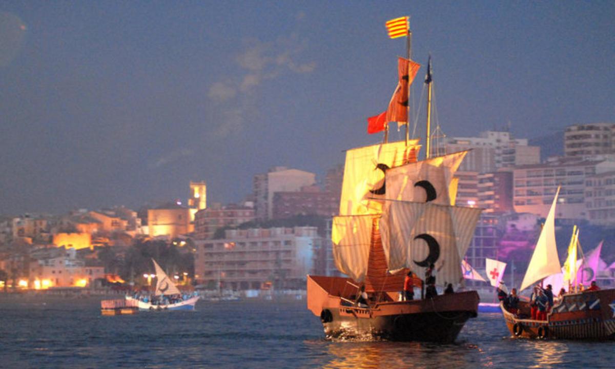 El desembarco en Villajoyosa fiestas de moros y cristianos